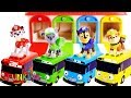 Learn Colors and Vehicle Names with Paw Patrol Toys & Tayo Garage Surprise