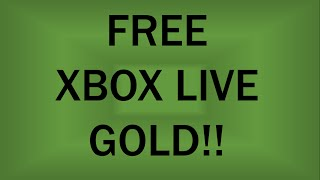 How to get FREE Xbox Live Gold (Xbox One)