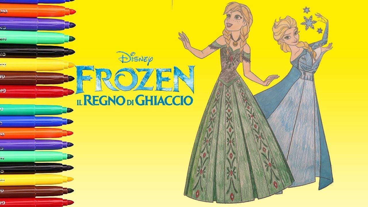 Frozen Anna Ed Elsa Da Colorare Coloring Book Regno Di