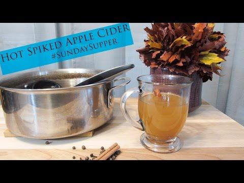 Gluten Free Hot Spiked Apple Cider (#SundaySupper)