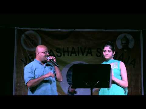 "Simhadri Santhebennur & Neha Nataraj singing Kannada song, ""malenAda heNNa"""