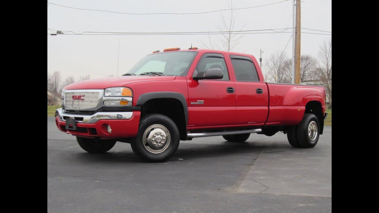 2004 gmc 3500 slt duramax dually sold