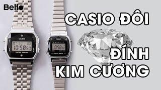 Casio đôi đính kim cương TỰ NHIÊN cực hot: A159WAD-1A và LA670WAD-1A