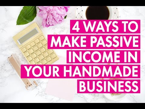 4 Ways To Make Passive Income In Your Handmade Business #FBLIVE
