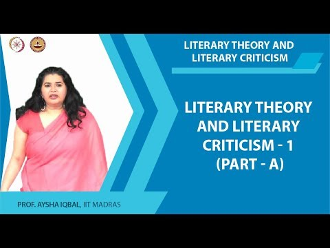 Introduction and Course overview Part A - Literary Theory and Literary Criticism