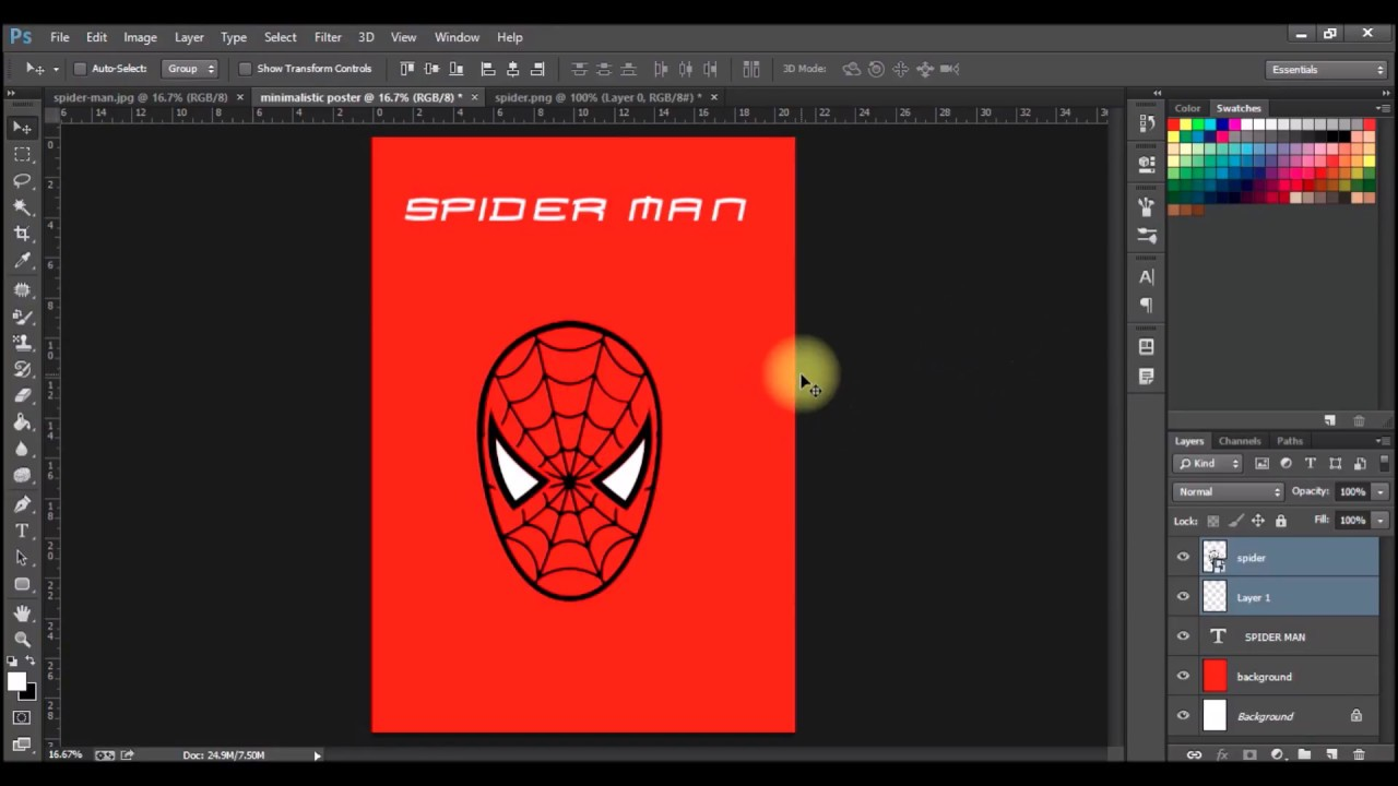 Poster design using photoshop - Making Minimalist Poster Design Using Photoshop Cc