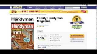 The Family Handyman Magazine Cheapest Subscription! No Tax & Free Shipping