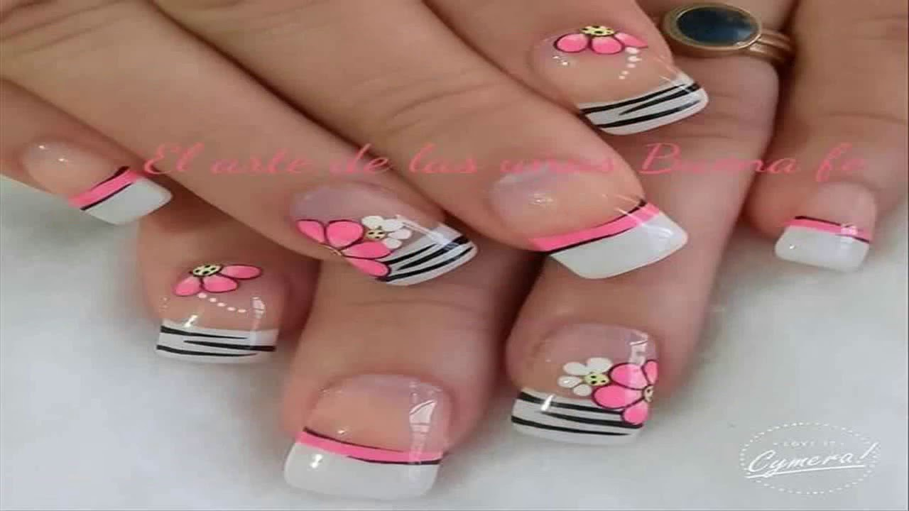 Ultimo En Uñas Decoradas Con Flores De Colores Sencillas Youtube