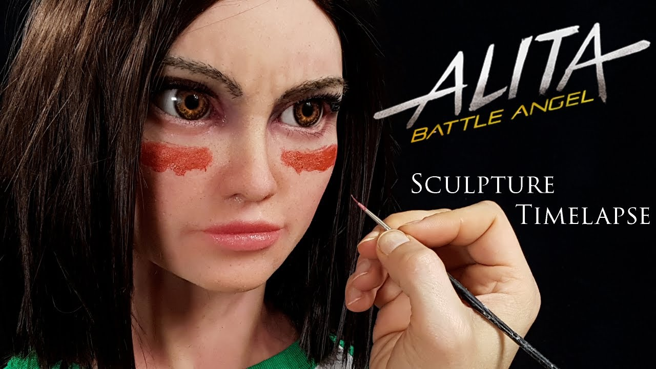 Alita Battle Angel Sculpture timelapse - Clay to Silicone