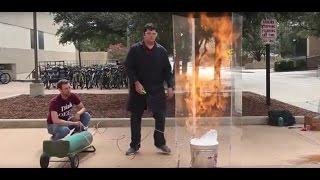Flammable Methane Bubbles