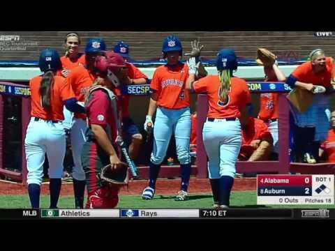 Auburn Softball vs. Alabama SEC Tournament Highlights