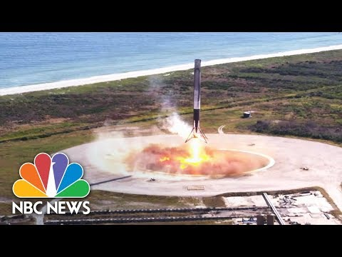 SpaceX Successfully Launched And Landed Reused Spacecrafts Dragon And Falcon | NBC News