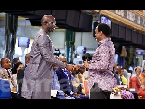 Presidential Candidates Visit Prophet T.B. Joshua As Liberia Prepares For Election Re-run