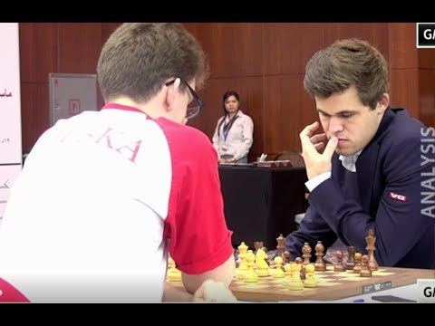 BEAUTIFUL ROOK SACRIFICE!!! Magnus Carlsen Vs Jan-Krzysztof Duda - Qatar Chess Masters 2015