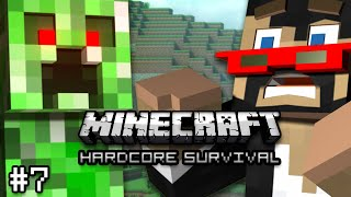 Minecraft: hardcore survival let's play ep. 7 -  risky decisions