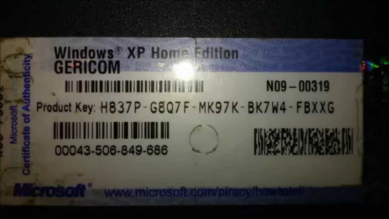 Windows xp home sp3 product key list