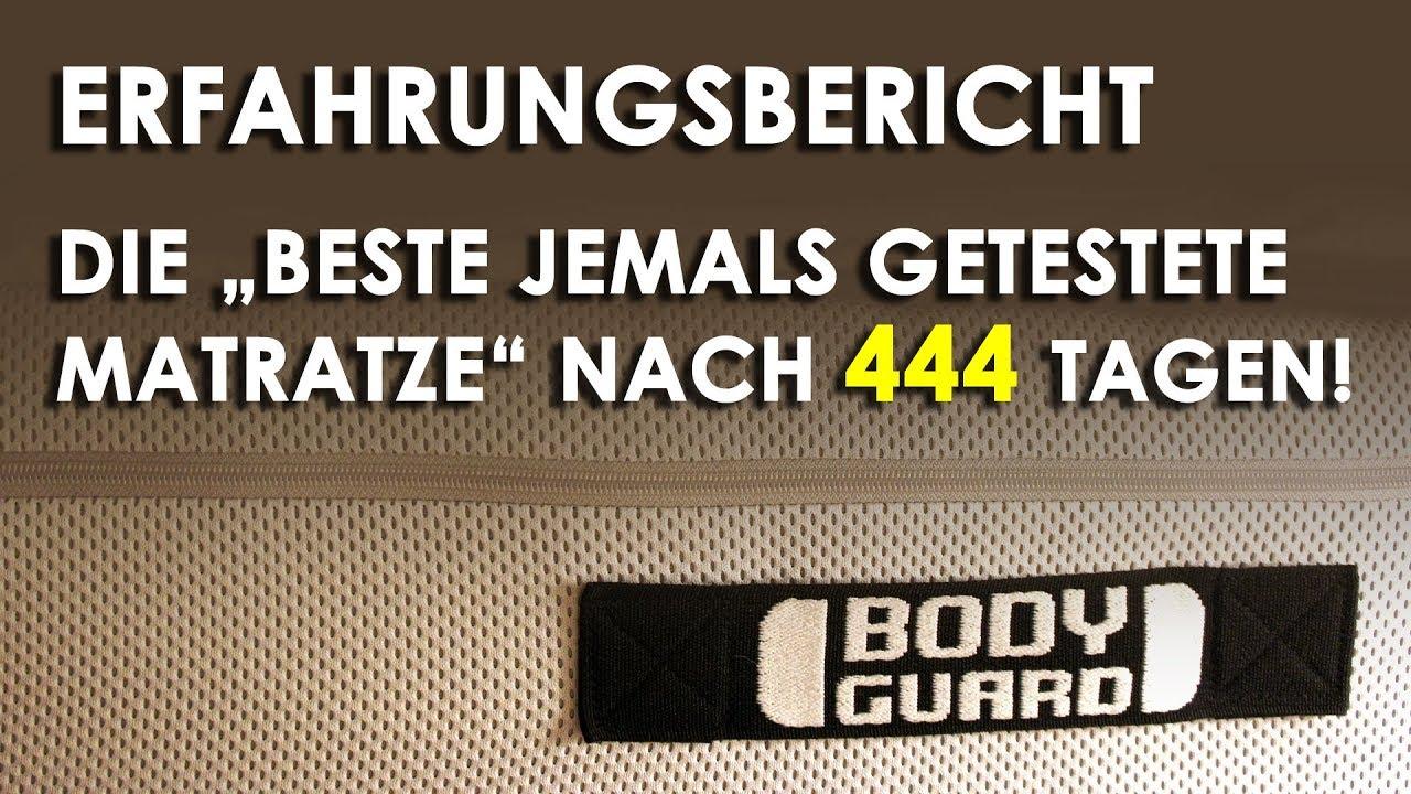 """Testsieger-Matratze """"Bodyguard"""" Nach 444 Tagen!"""