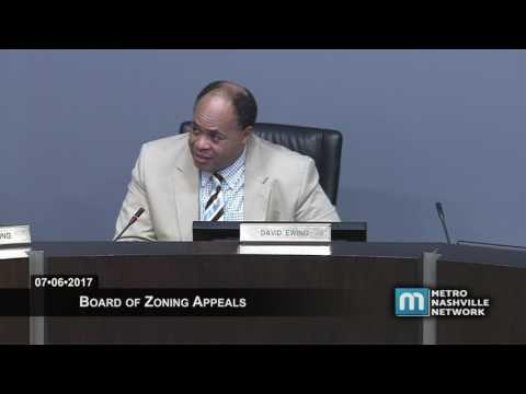 07/06/17 Board of Zoning Appeals