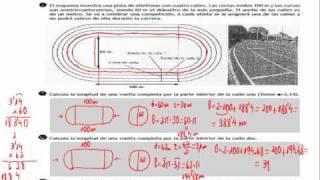 Destrezas problema largo 2 - Longitudes en una pista de atletismo