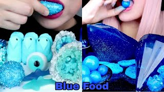 💙Rating Eating most popular BLUE FOOD ASMR💙
