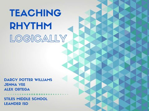Teaching Rhythm Logically