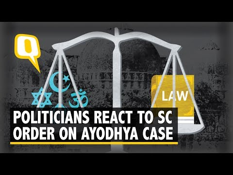 Politicians React to SC Order on Ayodhya-Babri Masjid Dispute | The Quint
