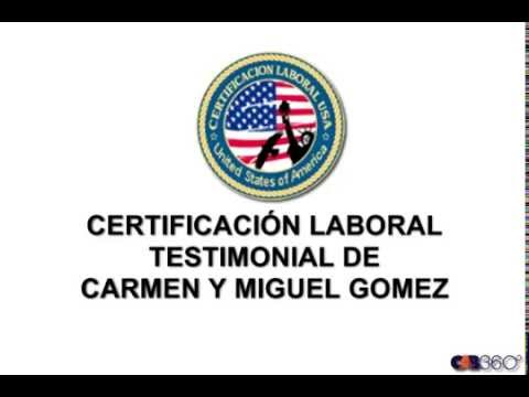 Testimonial Certificacion Laboral Familia Gomez