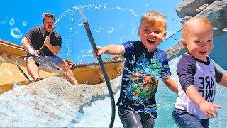FILLING OUR NEW POOL WITH WATER! REMODELED POOL SURPRISE REVEAL!