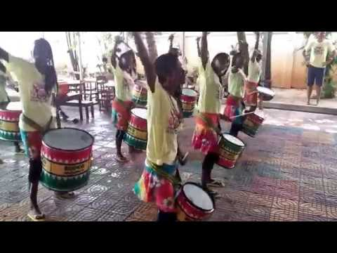 ISSR visit by Bloco Malagasy Madagascan drummers