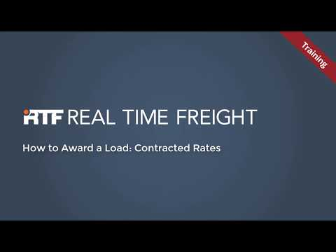 RTF: How to Award a Load, Contracted Rates