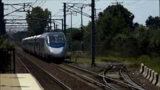 Amtrak HD EXCLUSIVE: Route 128 Teaser Action; Pure Full Throttle Acceleration (AEM-7AC and Acela)