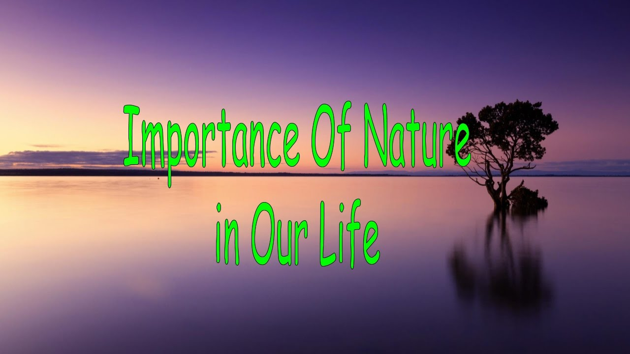 Importance of nature? Easy 10 points. ?