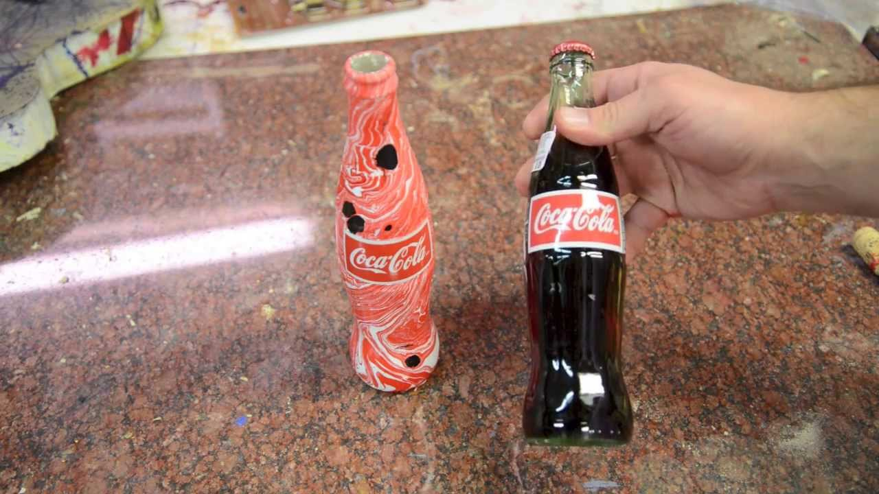 Swirling a Coca Cola Bottle Dipping a Coke - YouTube