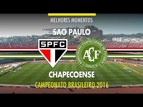 Melhores Momentos - São Paulo 2 x 2 Chapecoense - Brasileirão - 31/07/216