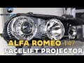Alfa Romeo 147 facelift projector installation