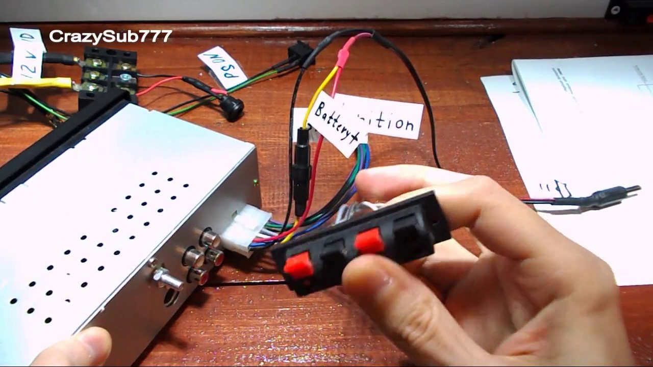 how to connect car stereo to the computer power supply - tutorial