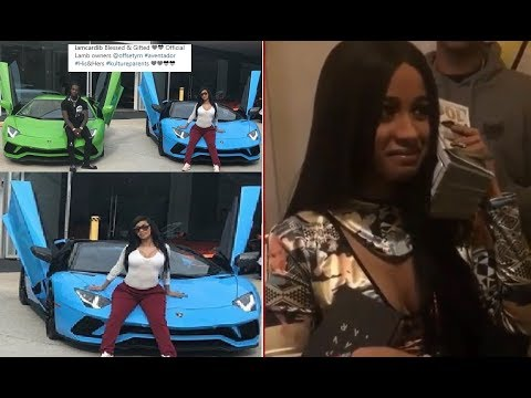 Cardi B posts her Bank Account Statement to prove to Haters that She Spent $550,000 on a Lambo.