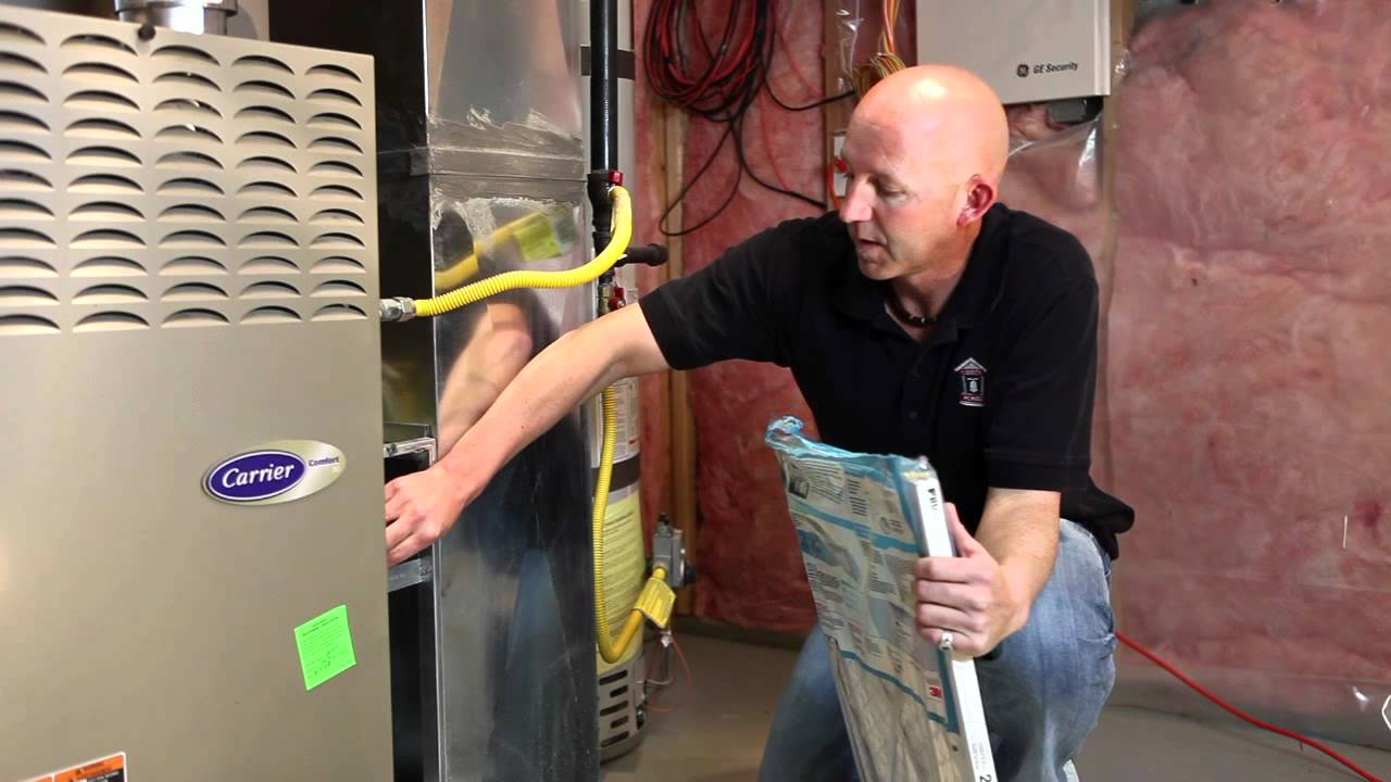 Furnace Air Filter Sizes Facias Limit Switch On Carrier Youtube Home Maintenance How To Change Your