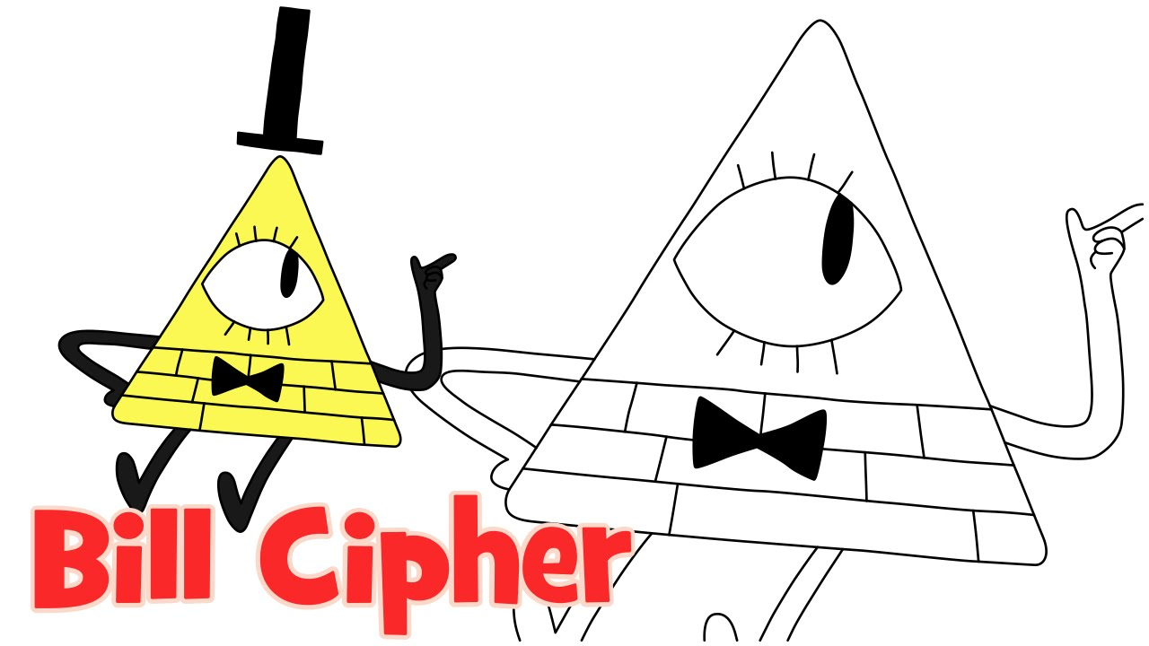 How To Draw Bill Cipher Gravity Falls Step By Step Easy