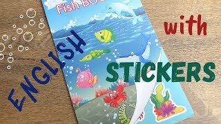 Морские обитатели - Учим английский с наклейками! - Sea world - English for Kids with stickers