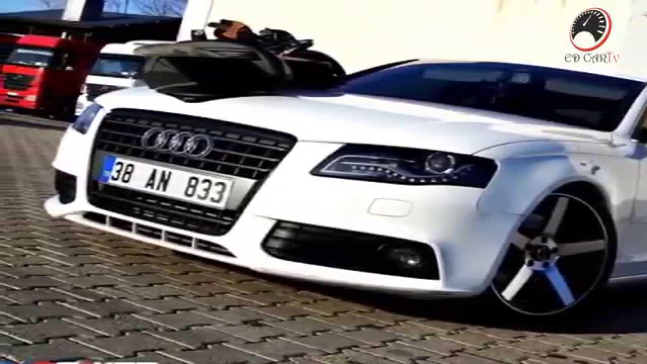 Audi A4 B8 White Modified Car NEW HD   YouTube
