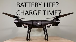 GPS Shadow Drone Flight Time And Battery Charge Test