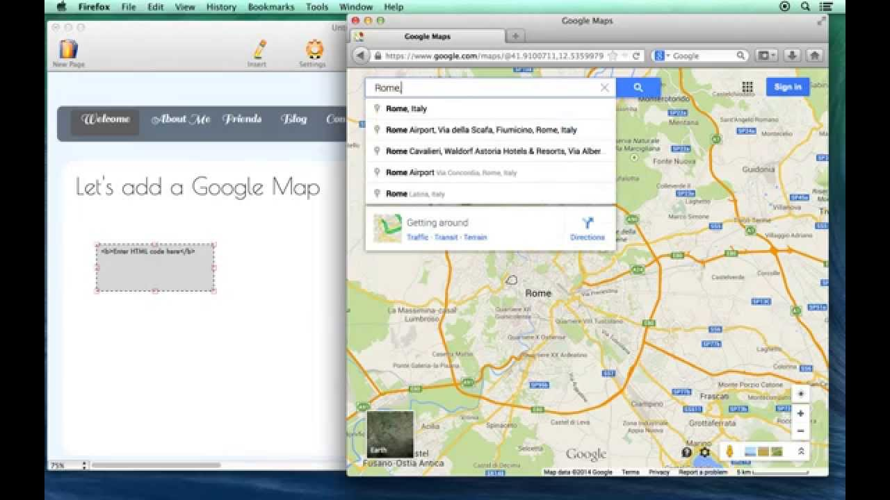 How To Add An Interactive Google Map To Your Web Page Using HTML Egg For Mac