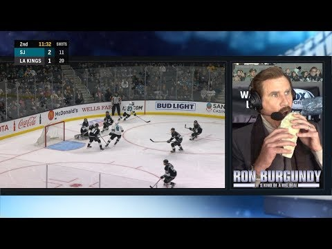 Ron Burgundy Calls The 2nd Period Of The LA Kings Game (FULL)