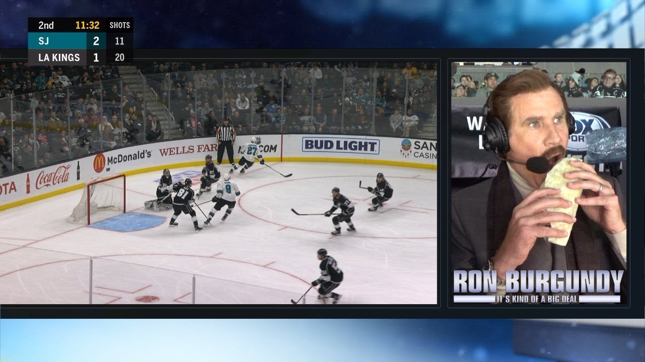 Ron Burgundy Calls The 2nd Period Of The La Kings Game Full Youtube