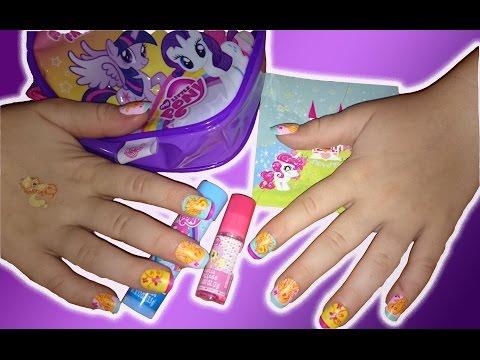 Детский набор // Наращиваем ногти // Делаем Тату и Красим Губы Makeup Cosmetic Set