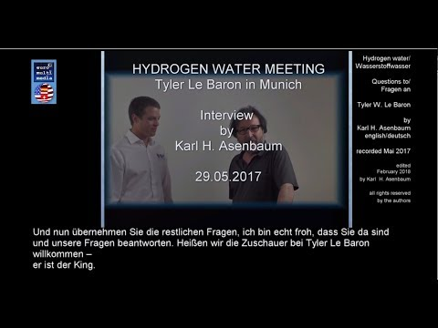 Wasserstoffwasser: Tyler Le Baron + Karl Heinz Asenbaum. English + deutsch