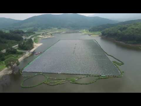 Floating Solar power plant in Korea. 2MW  Green Solution. Co.Ltd