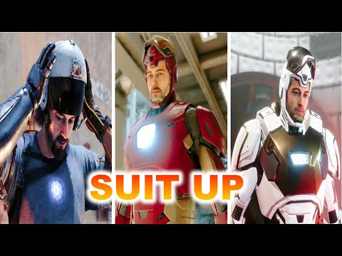 Every Iron Man Suit Up Scene in Marvels Avengers Game [with Gameplay]
