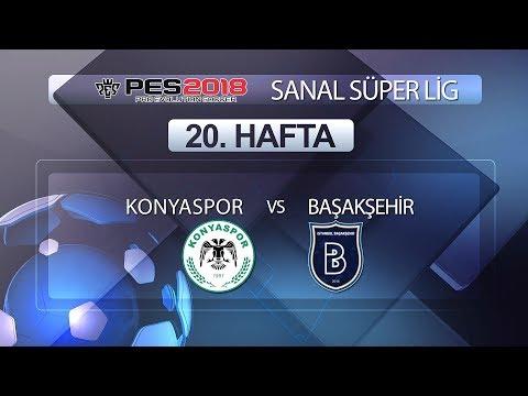 Konyaspor - Başakşehir | PES 2018 Sanal Süper Lig 20. Hafta